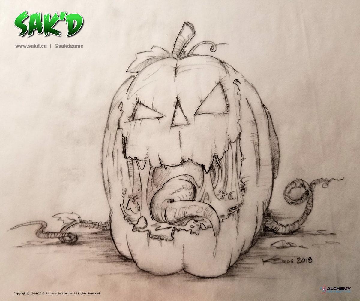 An evil jack-o-lantern