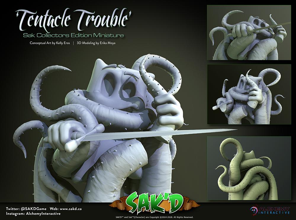 SAK'D 3D Printed Miniature Figures