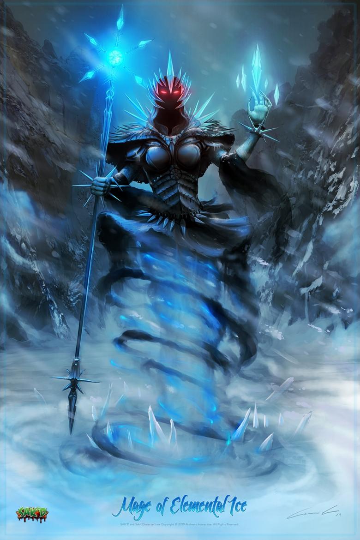 SAK'D - Dark Mage of Elemental Ice Poster