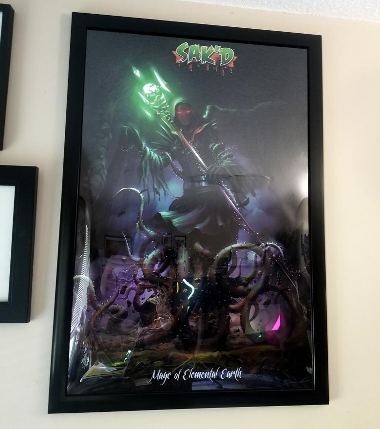 SAK'D - Dark Mage of Elemental Earth Framed Poster