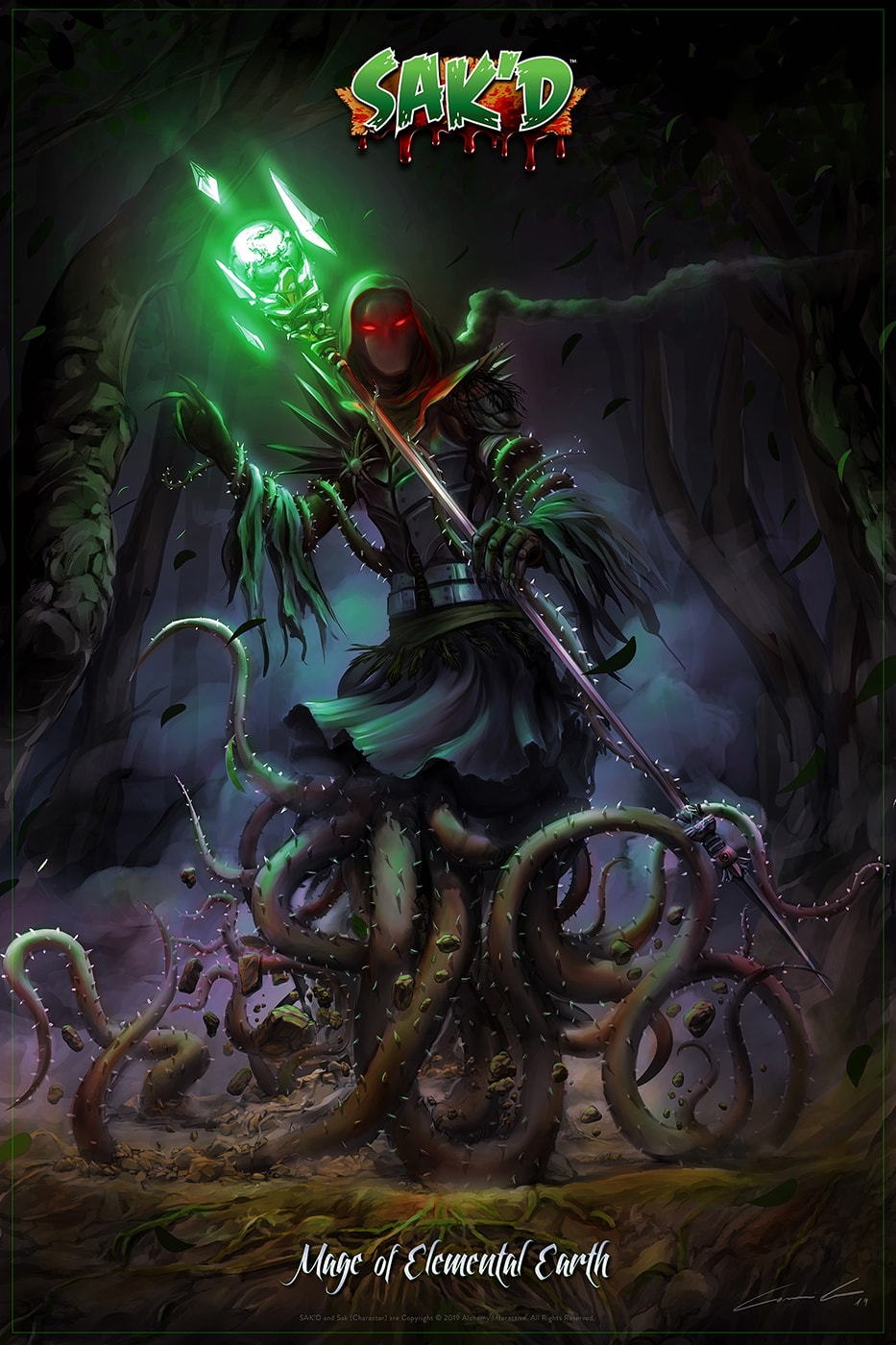 SAK'D - Dark Mage of Elemental Earth