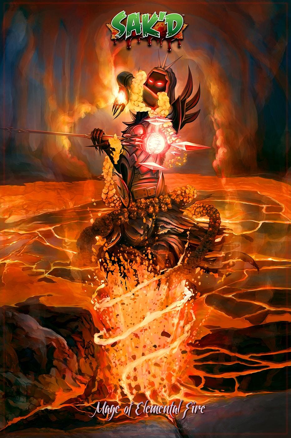 SAK'D - Dark Mage of Elemental Fire