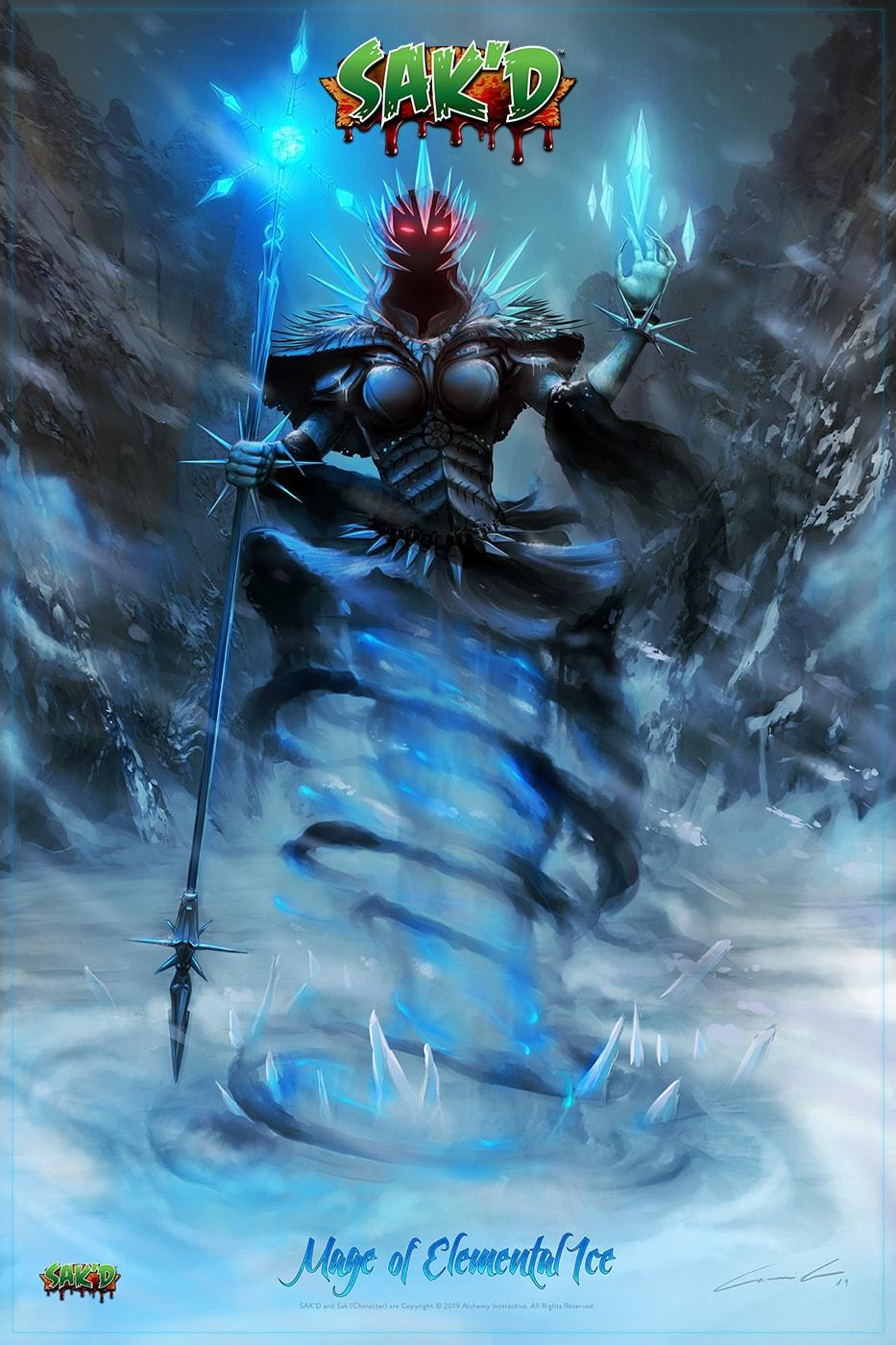 SAK'D - Dark Mage of Elemental Ice