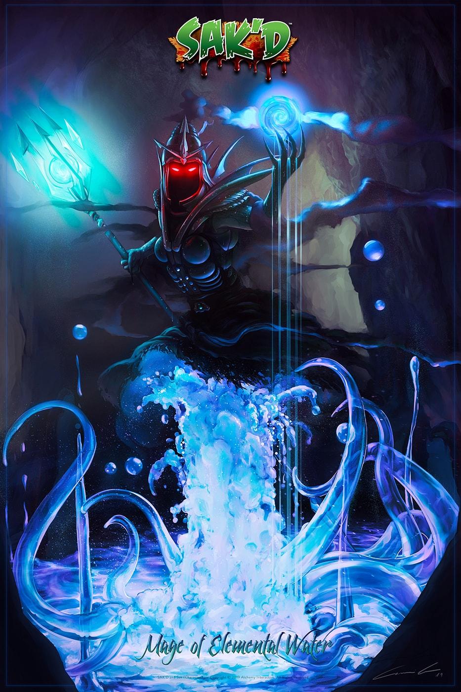 SAK'D - Dark Mage of Elemental Water